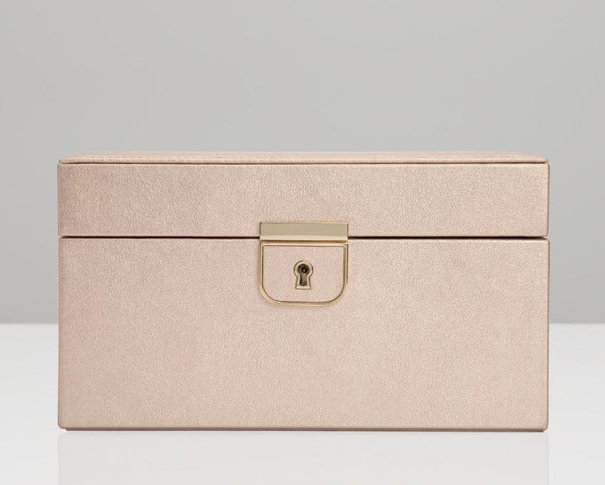 WOLF Palermo Rose Gold Small Jewelry Case 213116