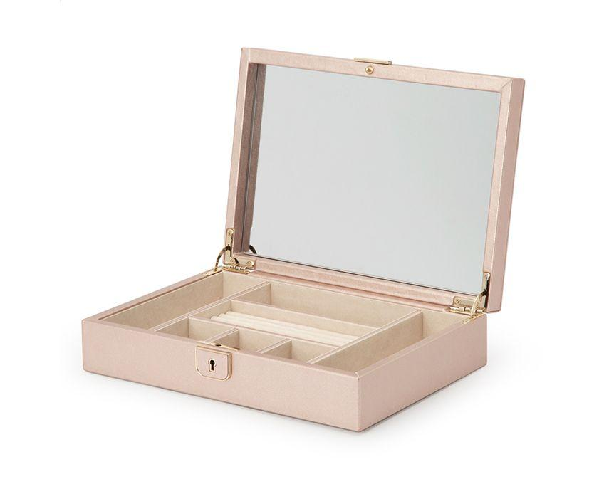 WOLF Palermo Rose Gold Medium Jewelry Case 213216