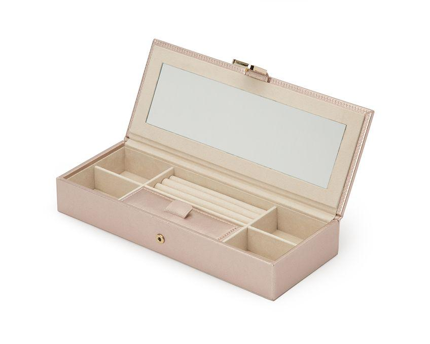 WOLF Palermo Rose Gold Safe Deposit Jewelry Box 213516