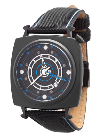 Ritmo Mundo Chaos Swiss Automatic 47mm Black Offset Dial Men's Watch 2191/3 Black Blue