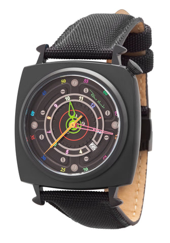 Ritmo Mundo Chaos Swiss Automatic 47mm Black Offset Dial Men's Watch 2191/4 Black Multi