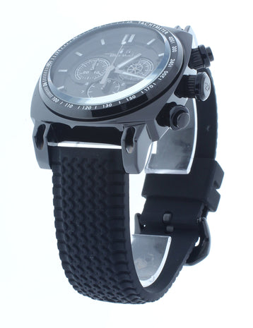 Ritmo Mundo Racer Chrono Black IP Stainless Steel Case Men's Watch 2221/5 Black Black
