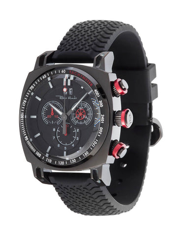 Ritmo Mundo Racer Chronograph Black IP Case Men's Watch 2221/6 Black Red
