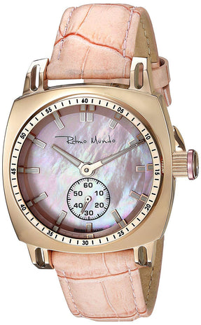Ritmo Mundo Lady Racer Pink Leather Band Pink MOP Women's Watch 2231/3 Rose Gold Pink
