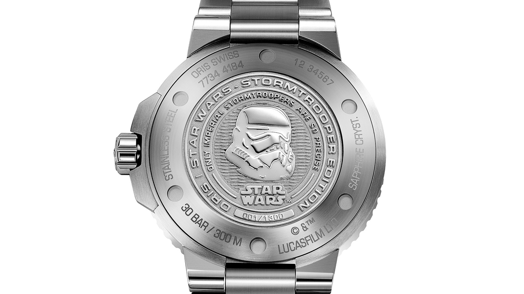 Oris Aquis Star Wars Stormtrooper Limited Edition Men's Watch 01 743 7734 4184-Set MB