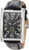 Ritmo Mundo Gran Data Black Rectangular Case Swiss Quartz Men's Watch 2621/1 Black