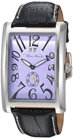 Ritmo Mundo Gran Data Purple Dial Rectangular Case Swiss Quartz Men's Watch 2621/4