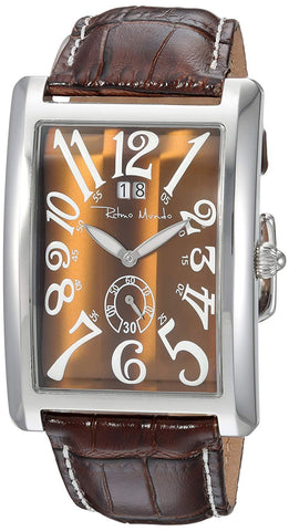 Ritmo Mundo Gran Data Rectangular Case Brown Men's Watch 2621/6 Tiger Eye