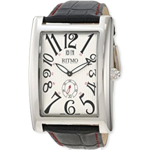 Ritmo Mundo Gran Data Rectangular Case Silver Dial Men's Watch 2621/7 Silver