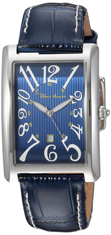 Ritmo Mundo Piccolo Data Rectangular Case Swiss Quartz Blue Unisex Watch 2622/3 Blue