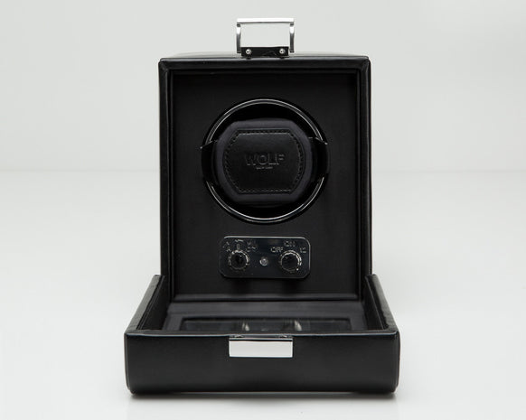 Wolf Designs 270002 Heritage Single 2.1 Watch Winder Black