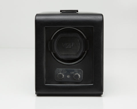 WOLF Heritage Single Watch Winder With Locking Glass Cover 270002