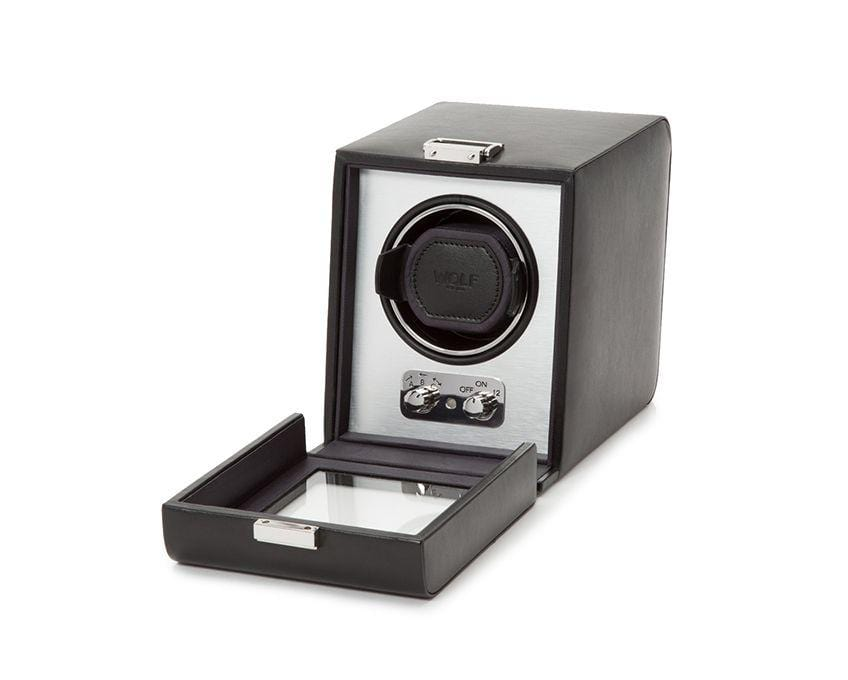 WOLF 270003 Heritage Single 2.1 Watch Winder Brushed Metal