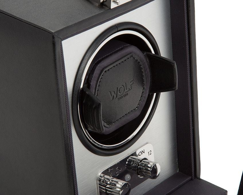 Wolf Designs 270003 Heritage Single 2.1 Watch Winder Brushed Metal