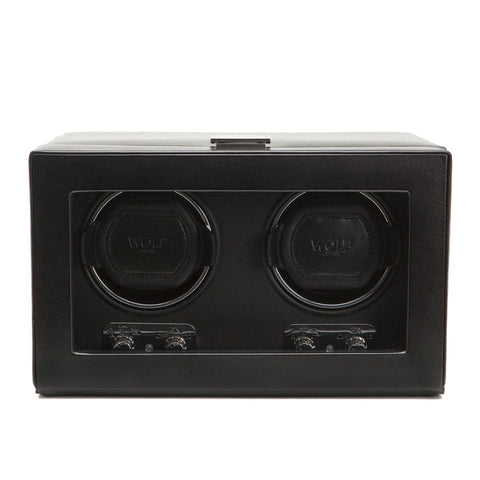 Wolf Designs 270102 Heritage Double 2.1 Watch Winder Black