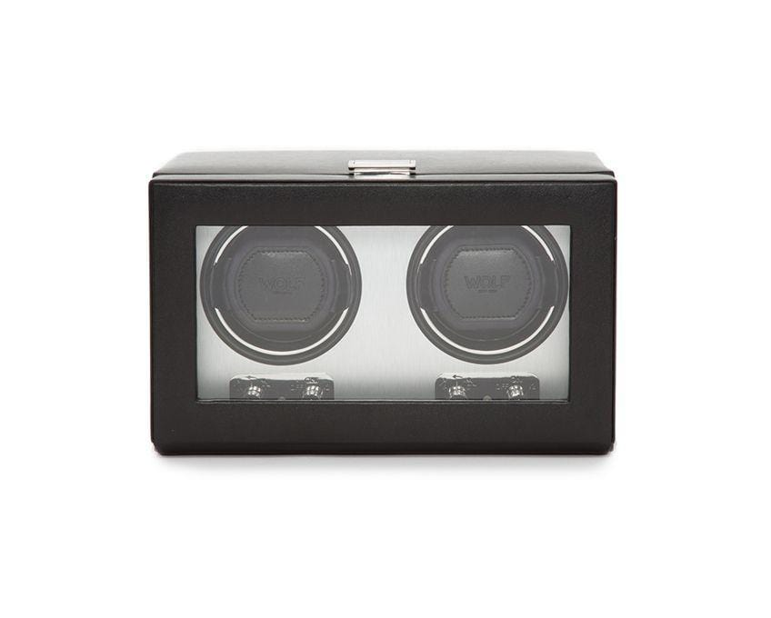 WOLF 270103 Heritage Double 2.1 Watch Winder Brushed Metal