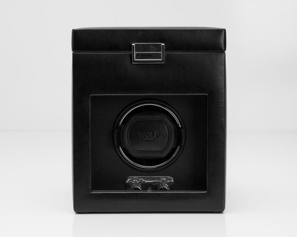Wolf 270302 Heritage Single 2.1 Watch Winder with Storage and Lock-In Cuff
