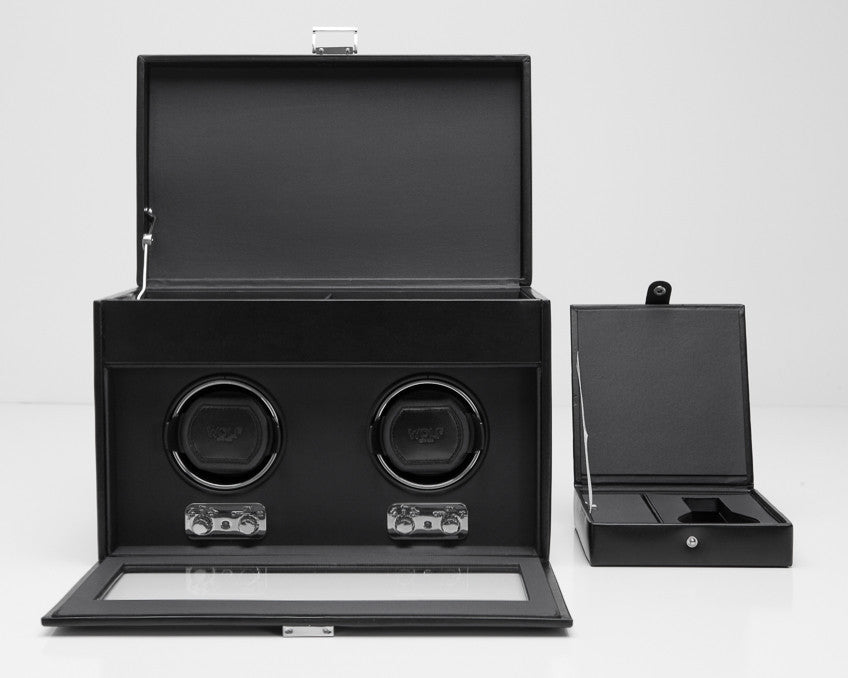 WOLF 270402 Heritage Double Watch Winder With Storage