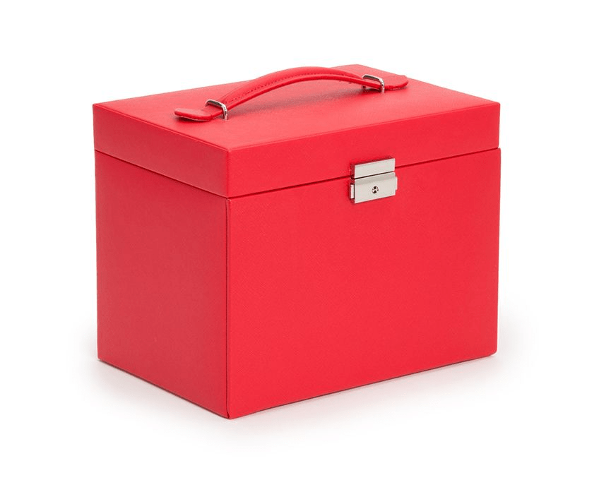 WOLF Heritage Large Jewelry Box With Travel Case Red 280114