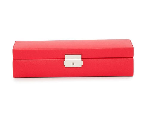 WOLF Heritage Red Saffiano Safe Deposit Box 280314