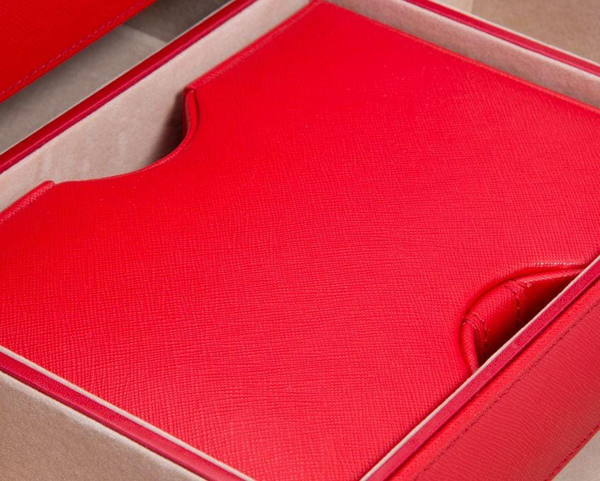 WOLF Heritage Red Saffiano Jewelry Armoire Box 280814