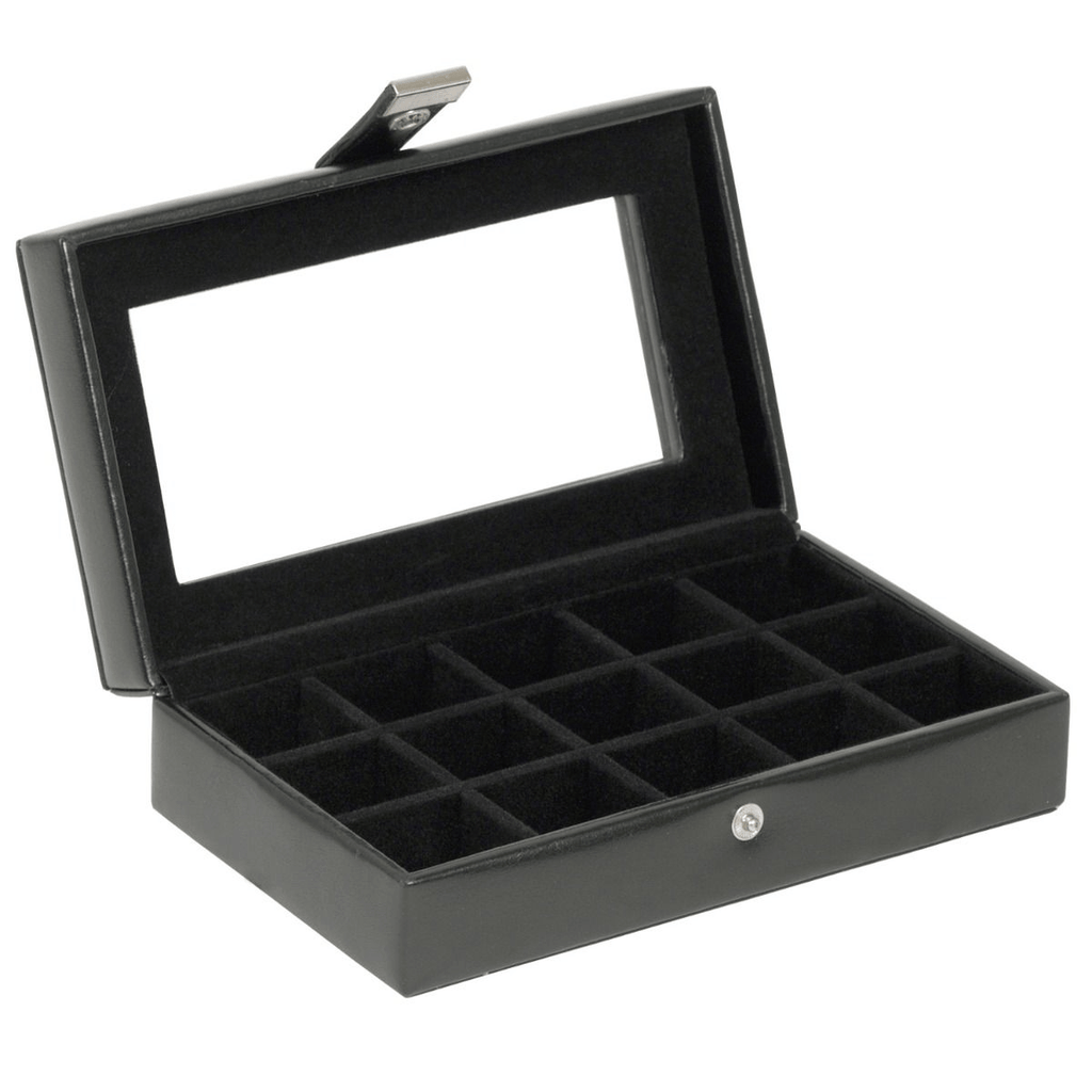 WOLF Heritage 15 Piece Cufflink Black Box 290102