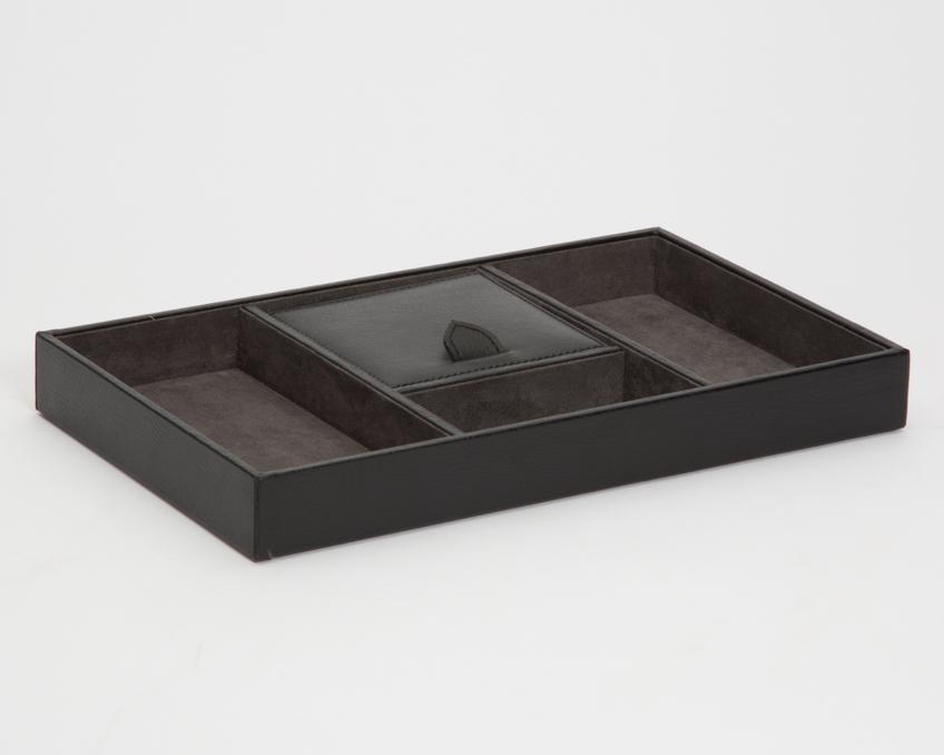 WOLF Blake Valet Tray Black - Grey 305102