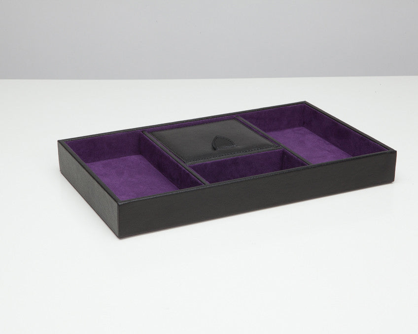 Wolf Designs 305128 Black Pebble Blake Valet Tray