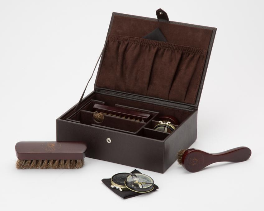WOLF Blake Shoe Shine Kit Brown Leather 305206