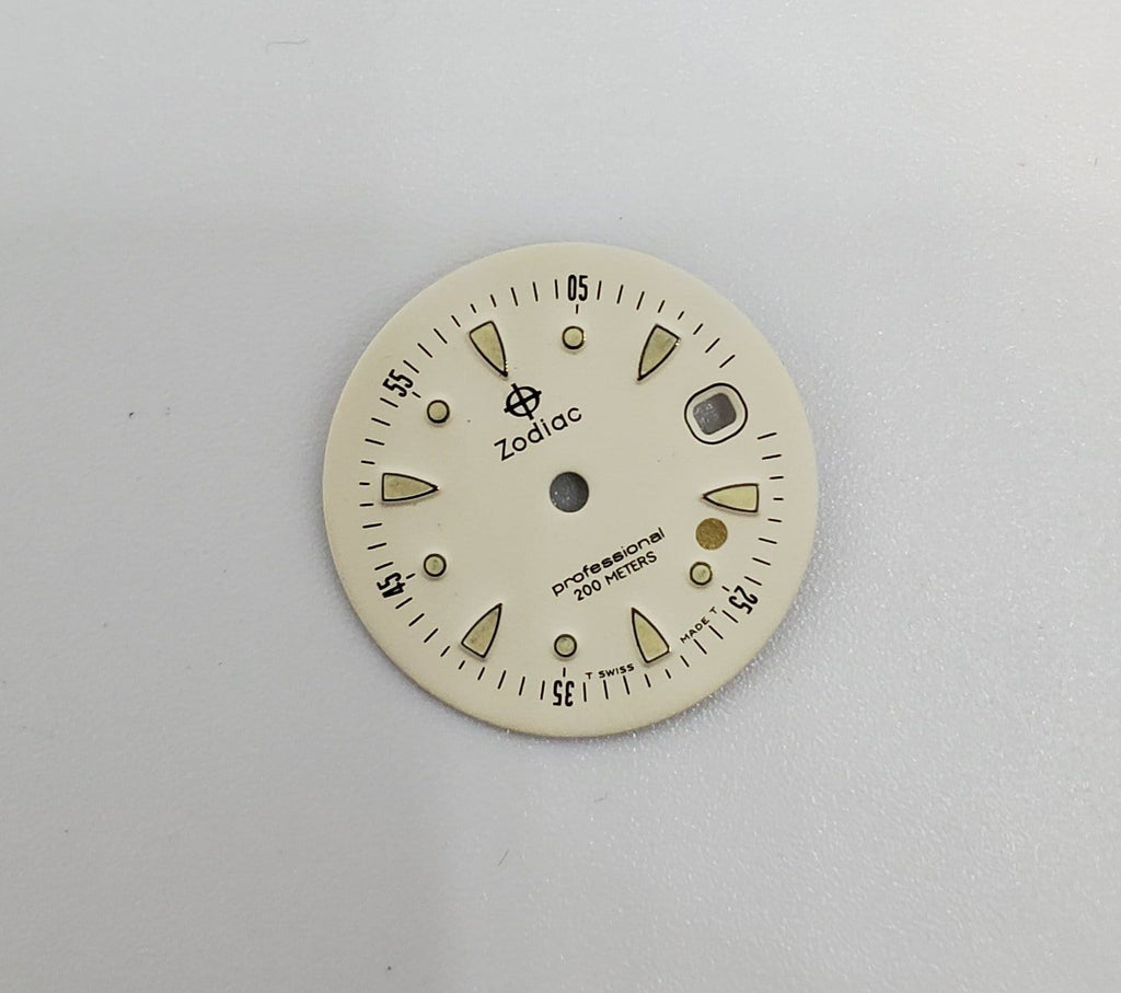 Vintage Zodiac Gold Dot 20.5mm Cream Dial 308.30.10