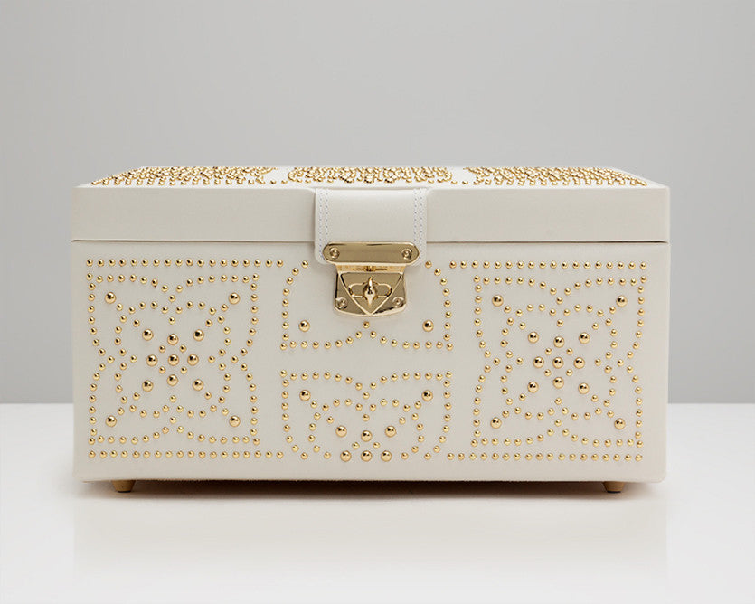 WOLF 308153 Marrakesh Medium Jewelry Box Cream