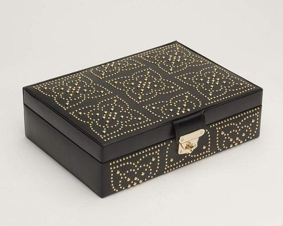 WOLF 308302 Marrakesh Flat Jewelry Box Black
