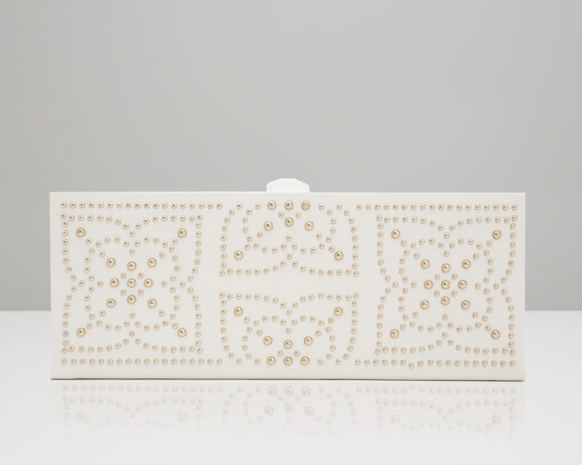 WOLF 308453 Marrakesh Cream Safe Deposit Box Studded Mosaic Design