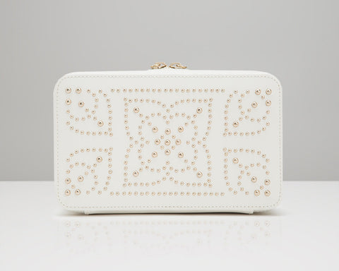 WOLF 308653 Marrakesh Cream Zip Case With Studded Mosaic Design