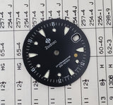 Vintage Zodiac Gold Dot Divers 25mm Black Dial 313.28.08