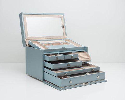 WOLF 315024 London Ice Large Jewelry Box With Mini Traveller