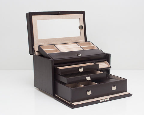WOLF 315106 London Cocoa Medium Jewelry Box