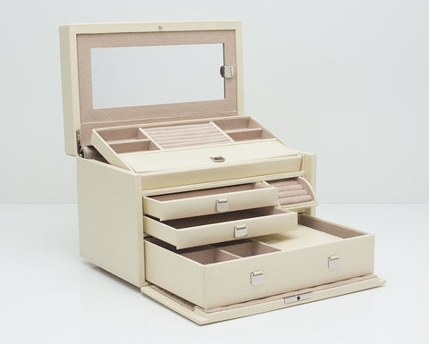 WOLF 315153 London Cream Medium Jewelry Box