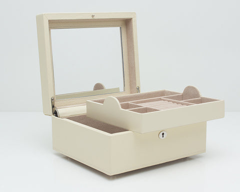 WOLF 315253 London Square Cream Jewelry Box