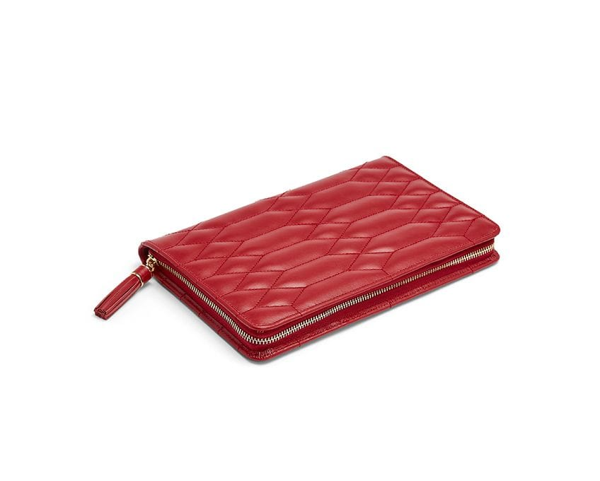 WOLF Caroline Large Jewelry Portfolio Red 324072