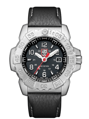 Luminox Navy SEAL Steel Black Leather Strap Men's Watch XS.3251