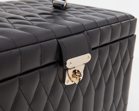 Wolf 329671 Caroline Black Quilted Large Jewelry Case