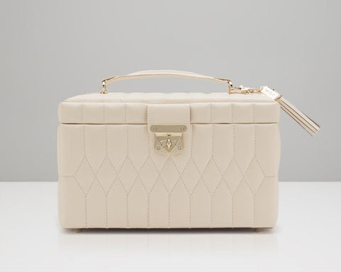 WOLF 329753 Caroline Ivory Quilted Medium Jewelry Case
