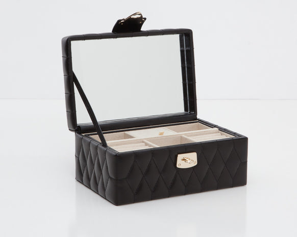Wolf 329871 Caroline Black Quilted Small Jewelry Case