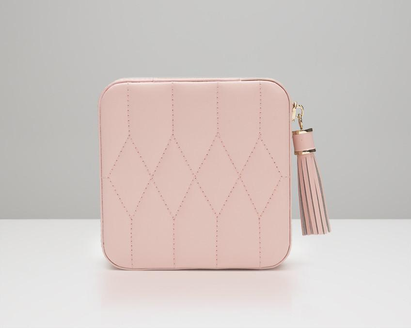 WOLF 329915 Caroline Rose Quartz Zip Travel Case