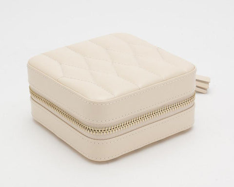 WOLF 329953 Caroline Ivory Zip Travel Jewelry Case