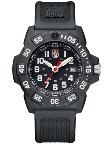 Luminox Navy SEAL 3501 Carbon Case Black Rubber Strap Men's Watch XS.3501