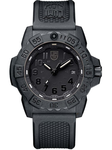 Luminox Navy SEAL 3501.BO Carbon Case Black Rubber Strap Men's Watch XS.3501.BO