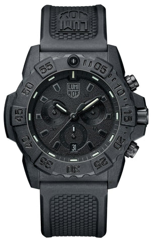 Luminox Navy SEAL Chronograph Carbon Case Black Rubber Strap Men's Watch XS.3581.BO