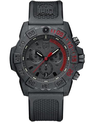 Luminox Navy SEAL Chronograph Carbon Case Black Rubber Strap Men's Watch XS.3581.EY